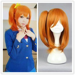 100% Brand New High Quality Fashion Picture Wig can hot dye>>Love Live!Cosplay Wig Short Orange Synthetic Hair New Fashion Wig Cute Girls