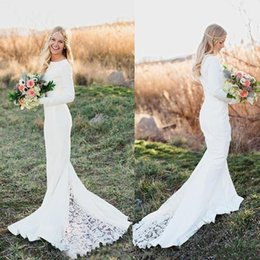 Wholesale 2017 lace sheath dress sleeves jewelry church conductor sleeve wedding dress