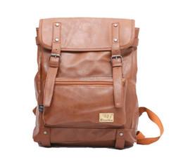 Mode Femmes Hommes PU Cuir Brown Noir Sac à dos Voyage Sacs à dos Sacs à dos brown men backpacks deals à partir de hommes bruns sacs à dos fournisseurs