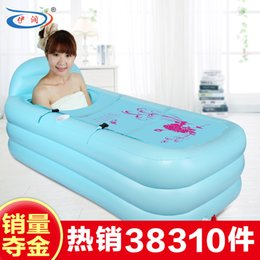 Wholesale Size cm with pump thickening Large inflatable bathtub folding Adult bathtub swimming pool bath bucket