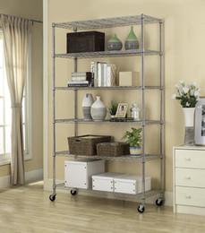 Wholesale 6 Tier Layer Shelf Adjustable Wire Metal Shelving Rack quot x48 quot x18 quot