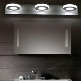 Wholesale cosmetic circular lamp steel aluminum bathroom cabinet makeup shaking LED Light modern artist lamp front mirrow via DHL