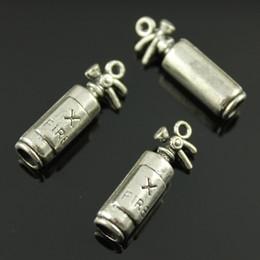 Wholesale 50pcs mm colors antique silver antique bronze color D Fire Extinguisher charms