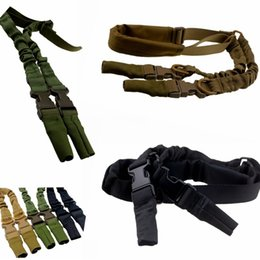 Wholesale Outdoor task rope Tactical American Sling Adjustable Bungee Rifle Gun Sling Strap System Tactical One Point Hunting Gun Sling