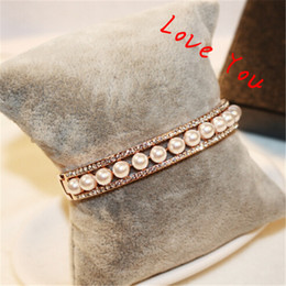 KOrean Pearl Bnagles & Bracelets for Women Gold Plated Vintag Bangle Indian Jewelry Costume Accessories