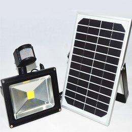 Wholesale Solar Power Led Outdoor Flood - 30W Rechargeable Solar Lamps Solar Powered LED Flood Light with PIR Sensor Outdoor Lighting IP65 Lawn Lights OED-Solar-PIR-30W