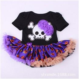 Little Girls Boutique Outfit ,Newborn Halloween Party Tutu Onesie ,Black Skull Printed Tutu Onesie ,Baby Girls Clothes ,Newborn