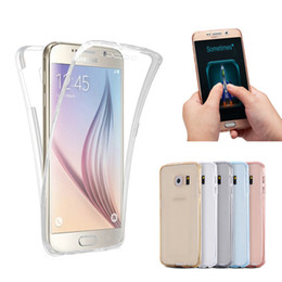 360 Degree 100% Full Body Front Back Soft TPU Case Cover For iPhone 7 Plus 6S SE 5S Samsung Galaxy S7 Edge Note 5 A9 A8 A7