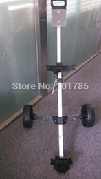 Wholesale golf carts golf trolly two wheels new type aluminium alloy single golf bag cart easy operation