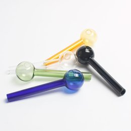 Wholesale pyrex glass pipes cm Curved Glass Oil burners Glass Pipes glass bong clear glass balancer glass water pipe shisha oil rigs