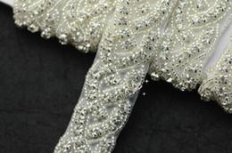 1 yard crystal rhinestone Iron on applique trims DIY Wedding sewing A1004