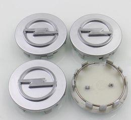 Wholesale Chrome ABS Car Wheel Center Hub Caps for Opel Astra Mokka Insignia Zafira Corsa Tigra Rim Capss Wheel Covers Emblem Cap027