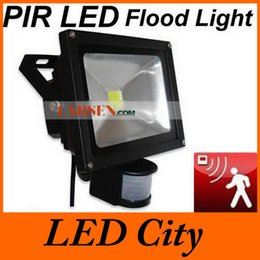 Free Shipping 70W 50W 30W 20W 10W PIR Sensor LED Flood light outdoor floodlights AC85-265v