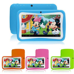 Wholesale 1PCS DHL Kids Inch Tablet PC Quad Core Children Bluetooth MB GB Android Children Educational Apps Games Christmas Best Gift for Kid