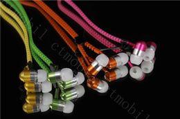 Zip in-ear 3.5mm earphone with mic metal buds zipper headset headphone for iphone 6 7 plus Samsung s8 s7 huawei mate 10