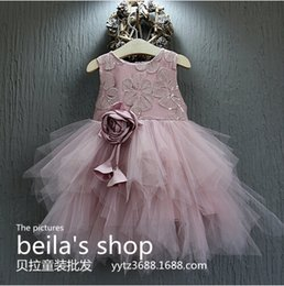 Wholesale Fall new girls stab delicate help stereo kidneys lace lace vest skirt dress is