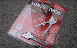 Wholesale Swiss Tech Tools Wholesale - swiss tech High quality 6 in1 Camping Swiss utili-key multi-functional mini outdoor survival knife multi function Key tools 100pcs 1119#19
