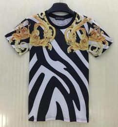 tshirt Summer t shirt men women Fashion 3d tshirt print Golden flowers striped T-shirt Streetwear Sport t shirt T47