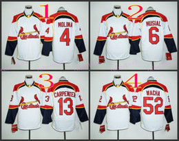 Wholesale Stitched Long Sleeve St Louis Cardinals Molina Musial wacha Carpenter Cheap Full Baseball White MLB Jersey Mix Order Notice