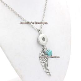 Anges ailes à vendre-Le plus récent Collier Snap interchangeable 18mm Snap Vintage Angel Wing Pendant Necklace pour Bijoux Interchangeables 18mm Snap Jewelry