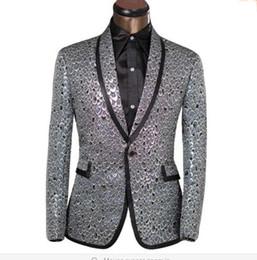 2017 trajes de la astilla 2016 Ropa de la marca de Lastest Hombres Blazer de oro de la astilla de la Escala Diseño Slim Fit se adapta a la fiesta de la boda del smoking Tamaño Blazer XS-6XL barato trajes de la astilla