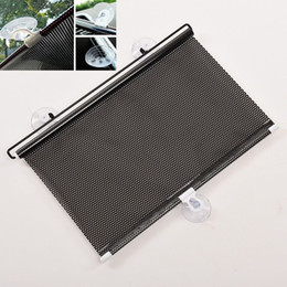 Wholesale 2016 Black Auto Sun Visor Car Sun Shade Car Window Suction Cup Car Curtain Auto Sun Shade Car Styling Covers Sunshade