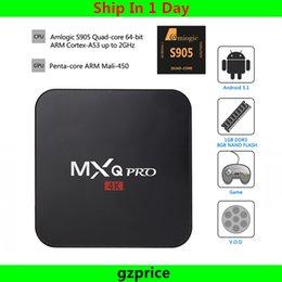 Wholesale 12pcs MXQ Pro K Amlogic S905 Quad Core Andorid TV BOX MXQPro M GB GB GHz WiFi Better than MXQ Box