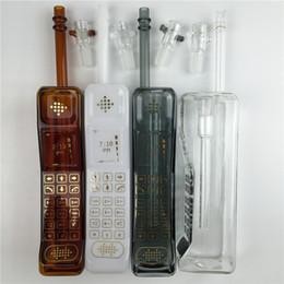 Machos negros en Línea-Bong vidrio grueso con una clara negro marrón aceite blanco 11,8 pulgadas Plataformas bongs de vidrio de 14 mm recipiente de vidrio junta macho para fumar