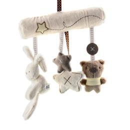 2016 Hot New Soft Lovely Infant Baby Kids Stroller Car Pram Cot Bed Hanging Musical Rattle Rabbit Toy