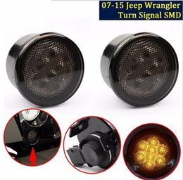 Amber Front LED Turn Signal Light Assembly for 2007~2016 Jeep Wrangler JK Turn Lamp Fender Flares Eyebrow Indicator Side Maker Parking Light