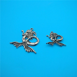 Mixed Tibetan Silver Mermaid Charms Pendants Jewelry Making Bracelet Necklace Fashion Popular Jewelry Findings & Components Accessories V150
