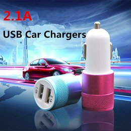 Best Metal Dual Port USB Car Charger Universal Cell Phone Chargers 5V 1 ~ 2 A for Apple iPhone iPad iPod Samsung Galaxy HTC