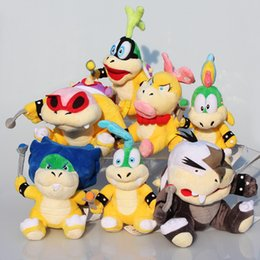 Wholesale 7pcs set Super Mario Bros Plush Doll Stuffed Toy Wendy LARRY IGGY Ludwig Roy Morton Lemmy Koopa cm