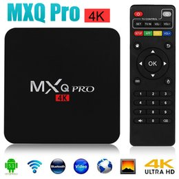 Wholesale Top MXQ Pro Android TV Box Amlogic S905 Chipset Kodi Full Loaded Lollipop OS Quad Core G G K Google Streaming Media Players DHL