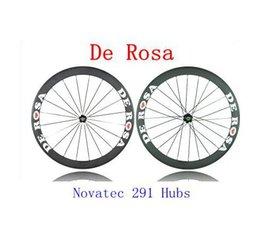 Wholesale 3K Weave Full Carbon Fiber Bicycle Wheels De Rosa Road Bike Wheelset Novatec Hubs Bike Parts mm Rim