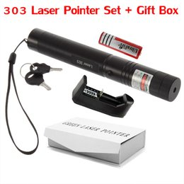 Wholesale High Powered Laser Green Laser Pointer Pen Adjustable Focus Burning Match with Star Pattern Filter Battery Charger Safe Key Gift