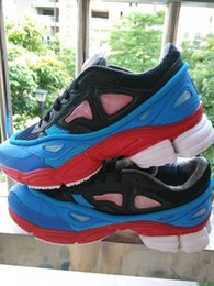 Wholesale REAL PICTURE HOT sell Raf Simons Consortium Ozweego Fashion Sneakers Mens and Womens Running Shoes Black White Red Size US5 US11