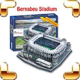 Wholesale Cadeau de Nouvel An RM Stadium Modèle D Puzzle Football Soccer Pitch Construction Paper Model Toys Collection