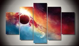 Framed Printed marvelous universe 5 piece painting wall art children's room decor poster canvas Free shipping