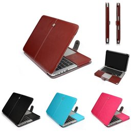 Wholesale Leather Notebooks For Men - Soft Leather Laptop Sleeve Bag Case For Macbook Air Pro Retina 11 13 15 Women Men Ultra book Pouch Notebook Protective Cover