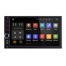Wholesale Joyous Universal Quad Core Double2 Din New Android Car Audio Stereo GPS G Wifi Bluetooth Radio Automotive Multimedia car DVD Player