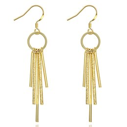 Wholesale Hot selling big European and American fashion K gold elegant long section of the ear hook product of choice for holiday gifts