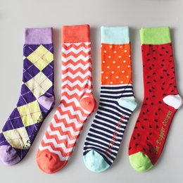 Wholesale 2016 Promotion Top Fashion High Quality Oem Services Men Custom Colorful Combed Cotton Dress Socks Business Crew Socks mens Socks Colourful