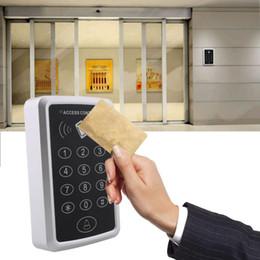 Promotion entrée de la porte de sécurité Vente en gros-125Khz 12V RFID sécurité entrée porte lecteur carte avec clavier Mini portable Proximité Smart ID contrôleur d'accès Machineb contrôleur