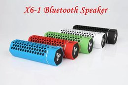 Wholesale Wireless Bluetooth Speakers Sport X6 Speaker outdoor bluetooth speaker multi colored radio function options support Memory Card for iphone6