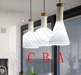 Wholesale magic bottle unit small medium large lamps as an unit Modern Benjamin Hubert Labware Pendant Lamp Reproduction Lamp glass pendant light