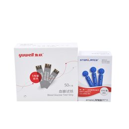 Wholesale YUYUE test strips lancets needles for Glucometer blood sugar glucose meter monitor
