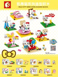Wholesale SD cm box hello kitty amusement park ect styles play game series blocks Bricks Mini Model building Blocks
