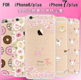 Newest Fashion Colorful for Apple iPhone 5s 6 6S case 6S Plus case Phone Cases soft TPU Waterproof Transparent Flower Pattern