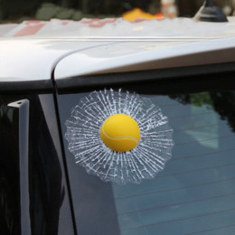 Wholesale Car styling D Car Sticker Football Basketball Tennis Baseball Hit Window For Ford Focus Volkswagen Golf Mercedes BMW Renault